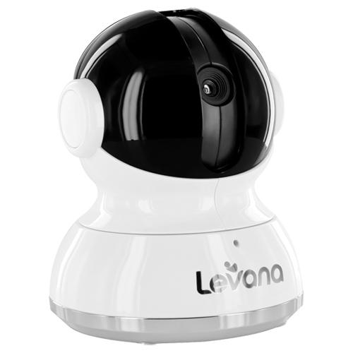Caméra d'interphone de surveillance bébé avec panoramique/inclinaison Keera de Levana - Blanc/noir