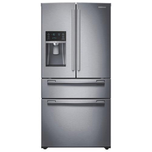 Réfrigérateur à 2 portes et 2 tiroirs 28,2 pi3 et 35,8 po de Samsung (RF28HMEDBSR) - Acier inox.