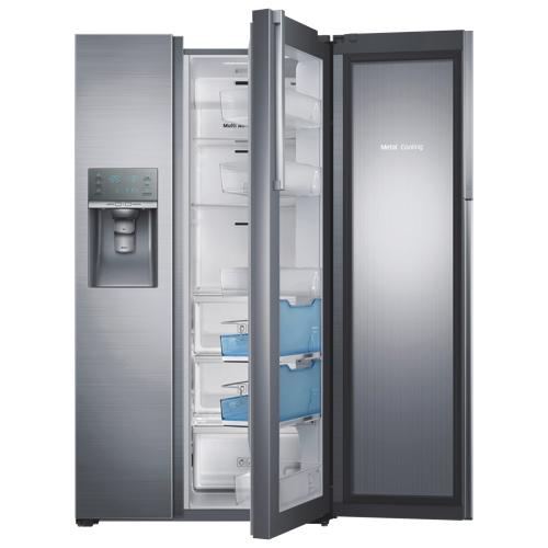 Samsung 357 215 Cu Ft Side By Side Counter Depth Refrigerator