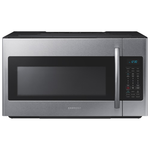 samsung over the range microwave 1 8 cu ft stainless steel over the range microwaves. Black Bedroom Furniture Sets. Home Design Ideas