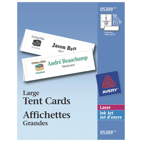 Avery large tent cards ave05309 50 pieces specialty paper avery large tent cards ave05309 50 pieces online only reheart Gallery