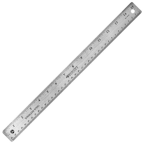 "Acme United 15"" Stainless Steel Ruler (ACM50202) - Stanless Steel"