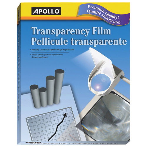 Apollo Transparency Film (APO09209) - 50 Pack - Clear