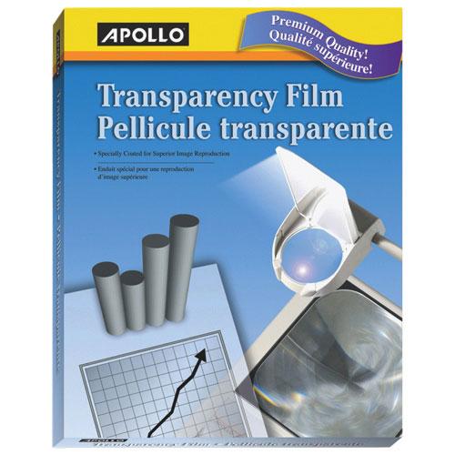 Film pour acétates d'Apollo (APO09209) - Paquet de 50 - Transparent