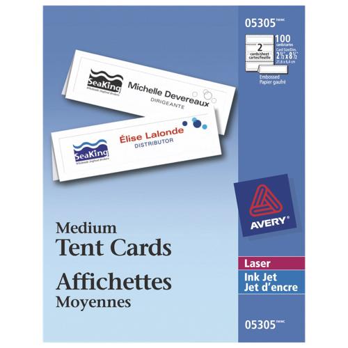 Affichettes moyennes d'Avery (AVE05305) - Paquet de 100