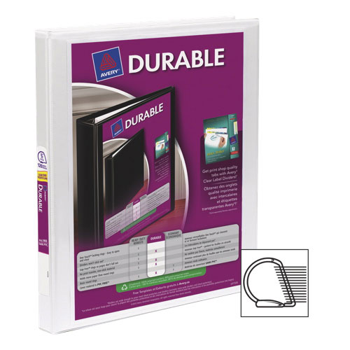 "Avery Durable 1/2"" D-Ring View Binder (AVE34075) - White"