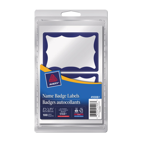 Avery Name Badge Labels (AVE41008) - 100 Pack - Blue