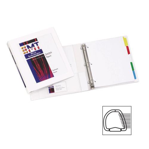 Cartable de présentation encadré à anneaux en D 1 po d'Avery (AVE68056) - Blanc