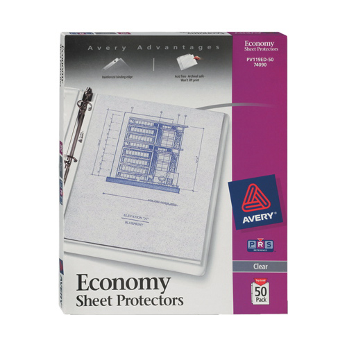 Avery Economy Sheet Protector (AVE74090) - 50 Pack - Clear