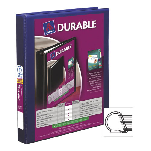 """Avery Durable 1"""" Slant D-Ring View Binder (AVE34004) - Navy"""