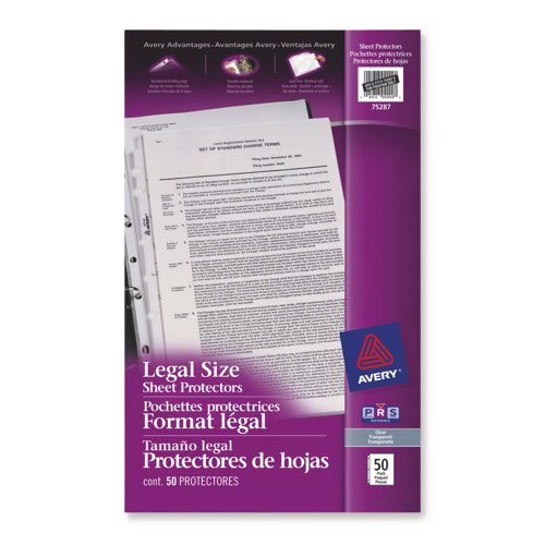 Avery Legal Size Sheet Protectors (AVE75287) - 50 Pack - Clear