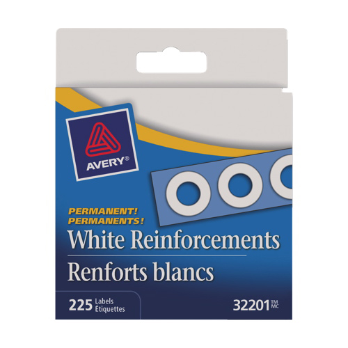 Avery Hole Reinforcement Label (AVE32201) - 225 Pack - White