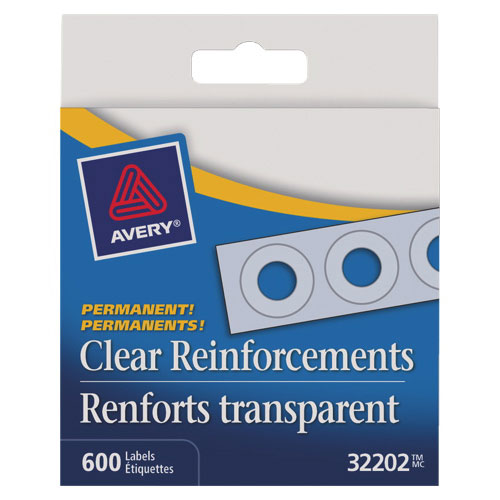 Avery Hole Reinforcement Label (AVE32202) - 600 Pack - White