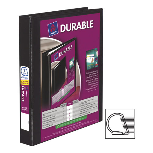 """Avery Durable 1"""" Slant D-Ring View Binder (AVE34003) - Black"""