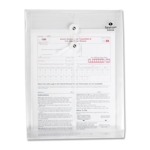 Enveloppe pour courrier interne en polypropylène de Sparco (SPR02020) - Transparent