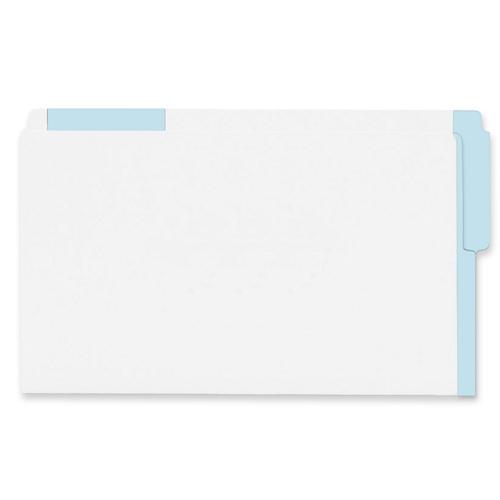 Esselte Colour Coded Top End-Tab File Folder (ESS613E-LBLU) - Legal - Light Blue