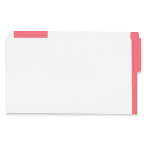 Esselte Colour Coded Top End-Tab File Folder (ESS613E-RED) - Legal - Red
