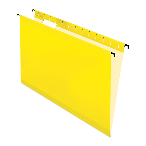 Pendaflex Surehook Hanging File Folder (ESS6152CYLW) - Letter - 20 Pieces - Yellow
