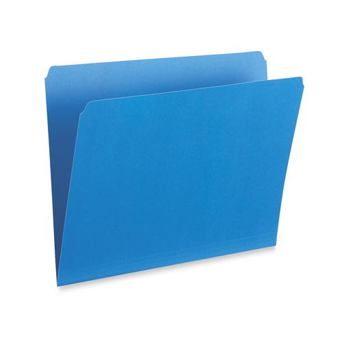 Chemises colorées verticales à coupe droite d'Esselte (ESS615S-BLU) - Légal - Bleu