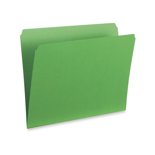 Chemises colorées vertic. à coupe droite d'Esselte (ESS615S-GRN) - Ministre - Paquet de 100 - Vert