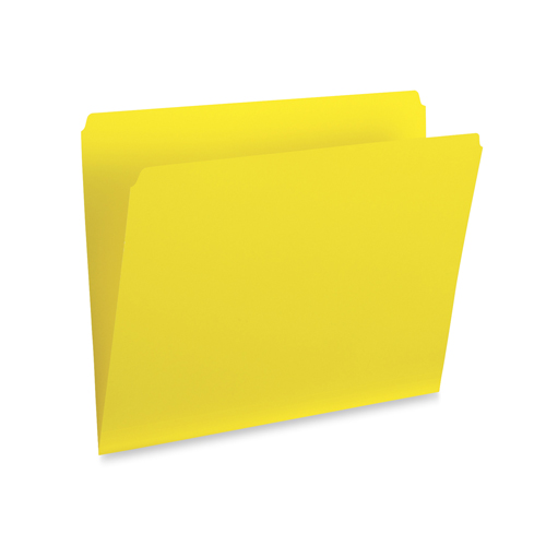 Esselte Straight Cut Vertical Coloured File Folder (ESS615S-YLW) - Legal - Yellow