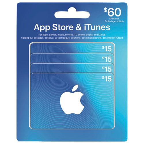 Carte Cadeau Apple.Carte Cadeau App Store Et Itunes Emballage Multiple 60 En