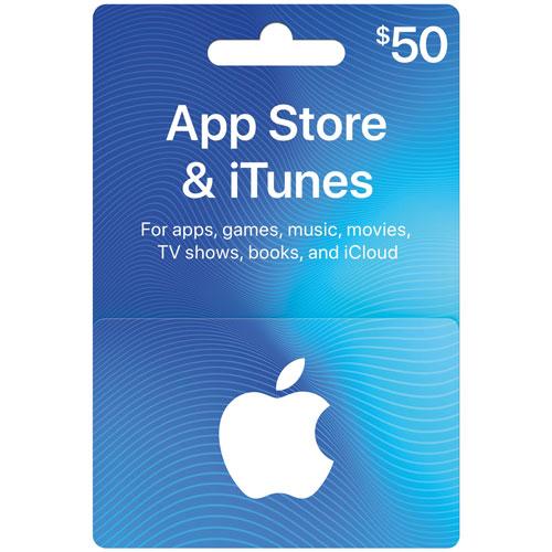 carte cadeau app store et itunes 50 en magasin seulement cartes cadeaux itunes best. Black Bedroom Furniture Sets. Home Design Ideas
