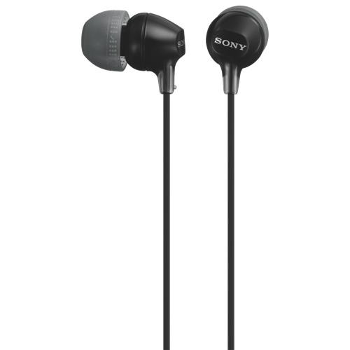 Sony In-Ear Sound Isolating Headphones (MDREX15LPB) - Black