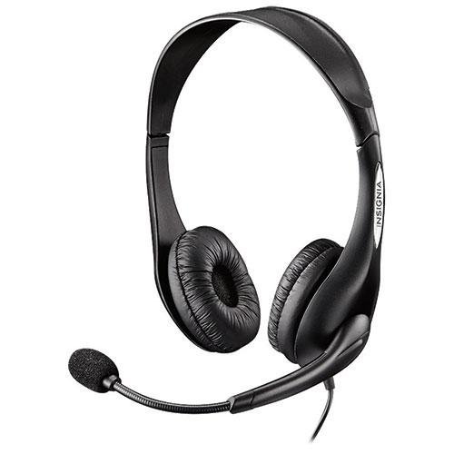 Casque d'écoute avec microphone d'Insignia (NS-PAH5201-C)