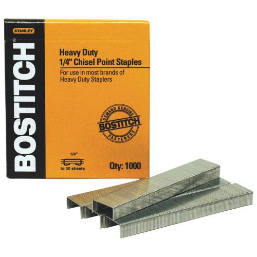 "Stanley Bostitch 1/4"" Heavy Duty Staples (BOSSB351/4-5M) - 5000 Pack"