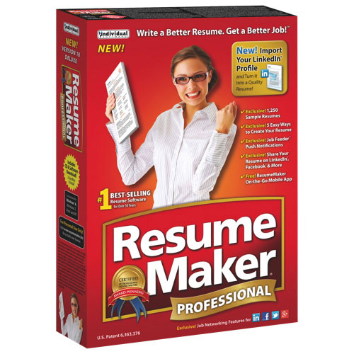 Resume Maker Professional d'Individual Software (FMC-R18)