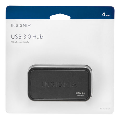 Concentrateur USB 3.0 à 4 ports d'Insignia (NS-PCH5431-C)
