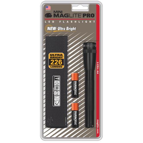 Torche électrique à DEL Pro de 226 lumens de Maglite (SP2P01H) - Noir