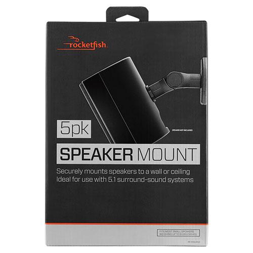 Rocketfish Speaker Wall Mount Kit (RF-HSWM5B-C) - 5 Pack