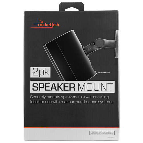 Rocketfish Speaker Wall Mount Kit (RF-HSWM5B-C) - 2 Pack