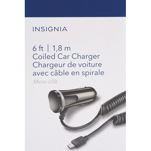 Insignia Fixed Micro USB Car Charger (NS-DCF2M-C) - Black