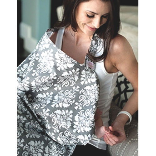 Udder Covers Grace Nursing Cover   Grey/White : Nursing Covers   Best Buy  Canada  Nursing Cover