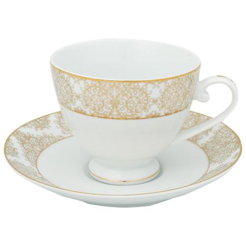 Brilliant Ritz Tea Cup & Saucer - Set of 6 - Gold : Mugs & Tea Cups ...