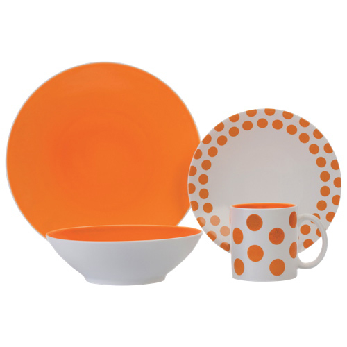 Brilliant Halo Autumn Glory 16-Piece Dinnerware Set - White/Orange - Online Only  sc 1 st  Best Buy Canada & Brilliant Halo Autumn Glory 16-Piece Dinnerware Set - White/Orange ...