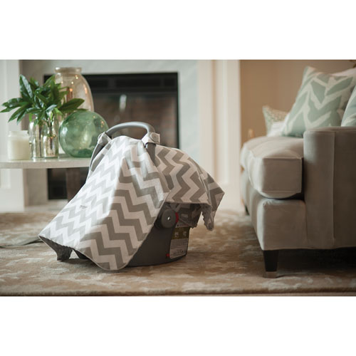 Carseat Canopy - Grey/White