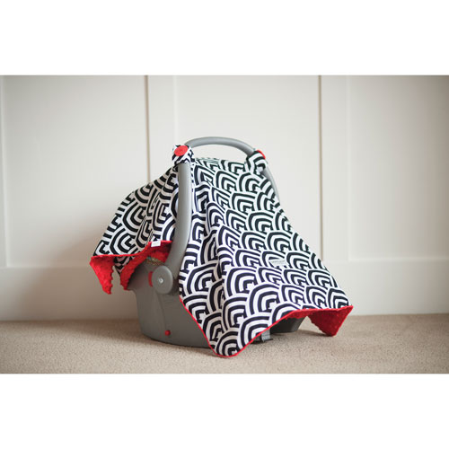 Carseat Canopy - Red/Black