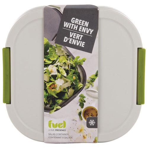 Contenant pour aliments Fuel Salad on the Go de Home Presence - Blanc-gris