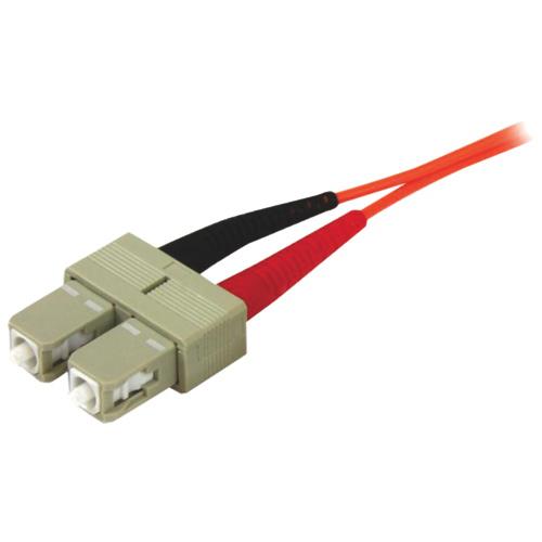 Câble à fibre optique SC-SC duplex 50/125 multimode de 2 m (6,5 pi) de StarTech (50FIBPSCSC2)