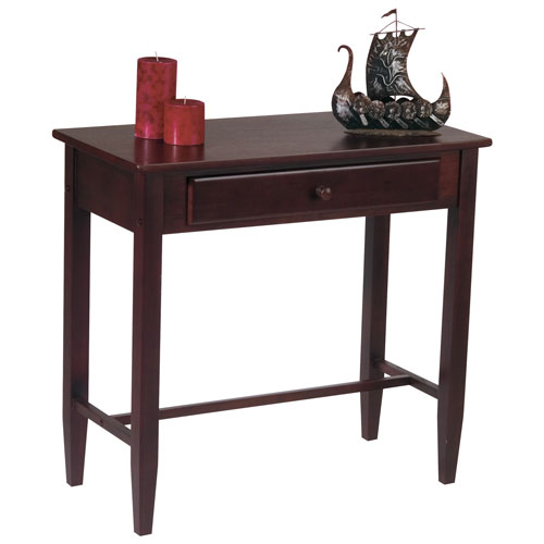 Buy Foyer Furniture : Espresso foyer table with drawer console