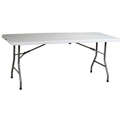 Traditional Rectangular Folding Table - Light Grey (BT6FQ)