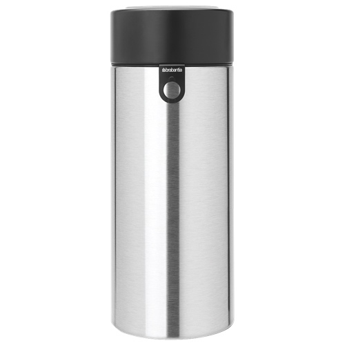 Brabantia 2.2L Canister With Magnetic Spaghetti Measure (H423666) - Stainless Steel