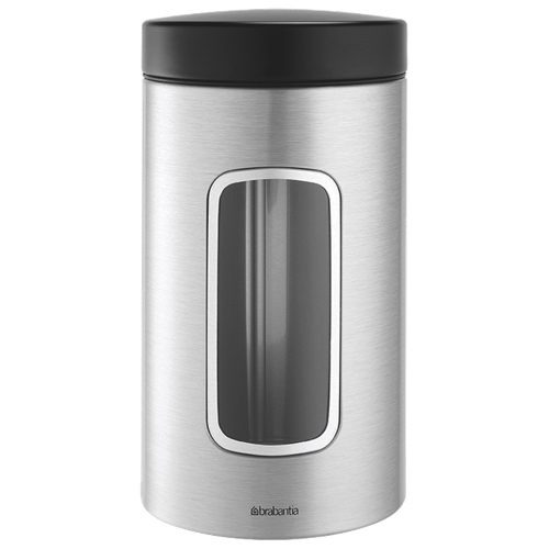 Brabantia 1.7L Round Canister (H371820) - Stainless Steel
