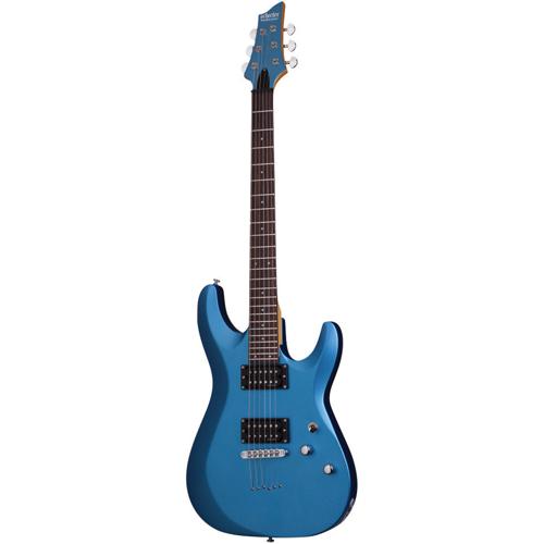 Guitare électrique de série C-6 de Schecter (DLX-SMLB) - Bleu clair métallique satiné