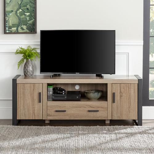meuble de walker edison pour t l viseur de 65 po ou moins bois flott meubles pour. Black Bedroom Furniture Sets. Home Design Ideas