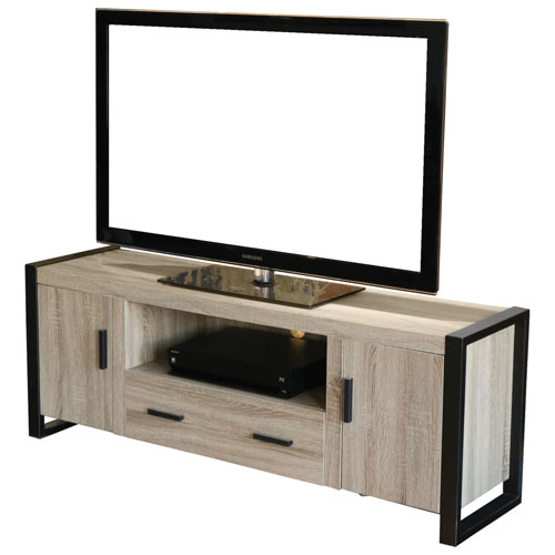 """Walker Edison Bench Stand for TVs up to 65"""" - Driftwood"""